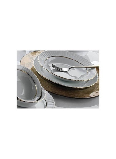 Kütahya Porselen Kütahya porselen tabak sedef yaldızlı 15 cm.kase 6 lı Renkli